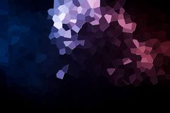 Abstract geometric polygons and triangles. Polygon. A photograph of an  colorful modern  poly  pink and blue abstract background Royalty Free Stock Images