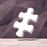Abstract geometric puzzle background of the Royalty Free Stock Image