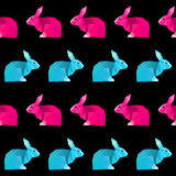 Abstract geometric rabbit seamless pattern background Royalty Free Stock Photo