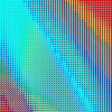 Abstract geometric rainbow checkered background. Abstract geometric colorful checkered background. Mosaic tiles of colorful geometric pattern. Stylish check Royalty Free Stock Images