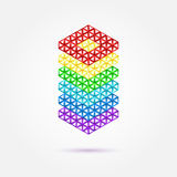 Abstract geometric rainbow vector icon Royalty Free Stock Images