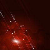 Abstract Geometric Red Background Royalty Free Stock Photography