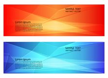 Abstract geometric red and blue color, Modern background with copy space, Vector illustration for your business banner vector illustration