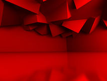 Abstract Geometric Red Cubes Background. 3d Render Illustration Stock Photography