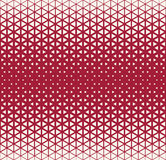 Abstract geometric red deco art halftone hexagone and triangle print pattern Stock Images