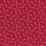 Abstract geometric red deco art memphis fashion pattern Stock Image