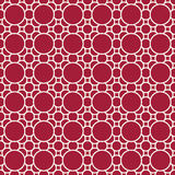 Abstract geometric red deco art ornament pattern background Royalty Free Stock Photos