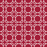 Abstract geometric red deco art ornament pattern background Stock Images