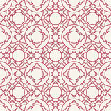 Abstract geometric red deco art ornament pattern background Royalty Free Stock Photography