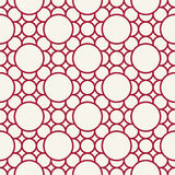Abstract geometric red deco art ornament pattern Royalty Free Stock Photos