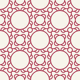Abstract geometric red deco art ornament pattern background Stock Image