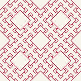 Abstract geometric red deco art square pattern background Stock Images