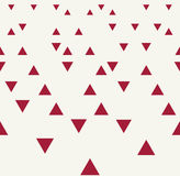 Abstract geometric red graphic design triangles 3d perspective pattern Royalty Free Stock Image