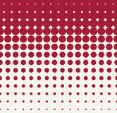 Abstract geometric red hipster fashion pillow halftone pattern background Stock Photos