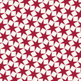 Abstract geometric red hipster fashion pillow stars pattern background Royalty Free Stock Images