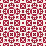 Abstract geometric red hipster fashion pillow stars pattern Stock Image