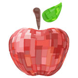 Abstract geometric red isolated vector fruit apple Stock Photo