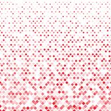 Abstract geometric red squares pattern on white background. Vector illustration Stock Illustration