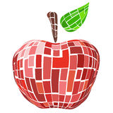 Abstract geometric red  vector apple Royalty Free Stock Image