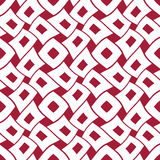 Abstract geometric red and white graphic design deco pattern background Royalty Free Stock Photos