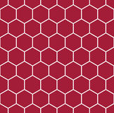 Abstract geometric red and white graphic design deco pattern background Royalty Free Stock Image