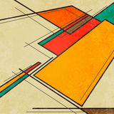 Abstract geometric retro colourful background Stock Photo