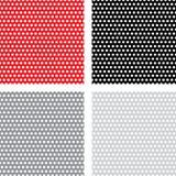 Abstract geometric retro pattern seamless. Polka Stock Photo