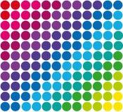 Abstract geometric retro pattern seamless. Polka. Dot background vector illustration