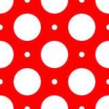 Abstract geometric retro pattern seamless. Polka. Dot background royalty free illustration