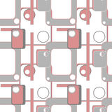 Abstract geometric retro seamless pattern background Stock Image