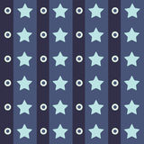 Abstract geometric retro seamless polka star background. Vector illustration. Stock Photography