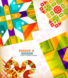 Abstract geometric retro shapes for backgrounds Royalty Free Stock Images
