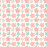 Abstract geometric retro star seamless pattern Royalty Free Stock Photography