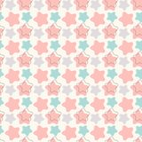 Abstract geometric retro star seamless pattern. Royalty Free Stock Photography