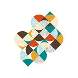 Abstract geometric retro vintage isometric composition background Royalty Free Stock Image