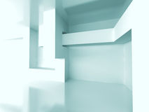 Abstract Geometric Room Interior Architecture Background Royalty Free Stock Photo