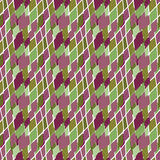 Abstract geometric rough spotty rhombus  seamless pattern. Royalty Free Stock Photos