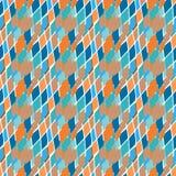 Abstract geometric rough spotty rhombusn seamless pattern. Stock Photo