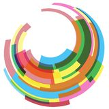 Abstract geometric round colorful background Royalty Free Stock Photos