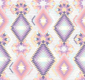 Abstract geometric seamless aztec pattern Stock Photography