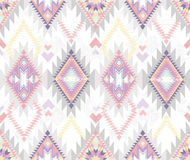 Abstract geometric seamless aztec pattern