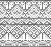 Abstract geometric seamless aztec pattern Royalty Free Stock Photos
