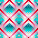 Abstract geometric seamless background in cute colors. Vector illustration Stock Image