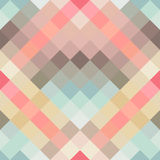 Abstract geometric seamless background in cute colors. Vector illustration Stock Photography