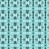 Seamless stripes and ellipses pattern green aquamarine white Stock Photo