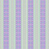 Seamless floral pattern purple violet pink green. Abstract geometric seamless background. Floral stripes and circles pattern purple, violet, Magenta, pink, beige stock illustration