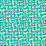 Regular seamless intricate squares pattern turquoise purple orange Royalty Free Stock Photography