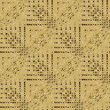 Regular seamless intricate zigzag pattern beige brown diagonally. Abstract geometric seamless background. Regular intricate zigzag pattern in beige and brown Royalty Free Stock Photo