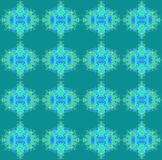 Seamless regular oval pattern blue green Stock Image