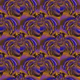 Regular rounded pattern purple gold brown shifted Royalty Free Stock Photos